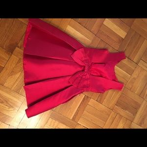 Kate Spade Red Open Bow Back Fit & Flare